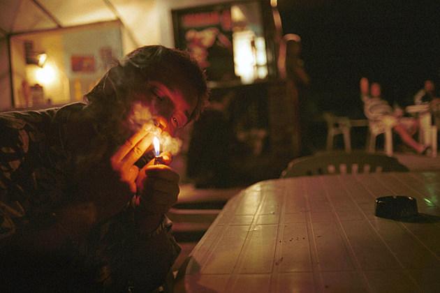 Man in Marijuana Cafe