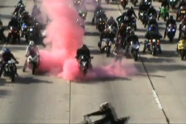 Epic Biker Marriage Proposal Shuts Down LA Highway