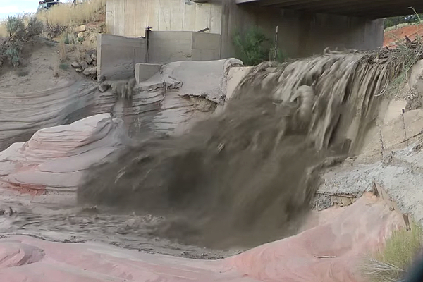 Insane Flash Flood In Utah Is A Beautiful Disaster