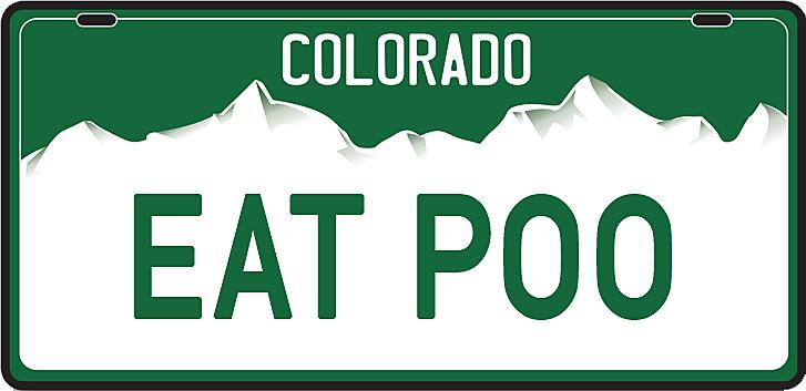 Banned Colorado License Plates